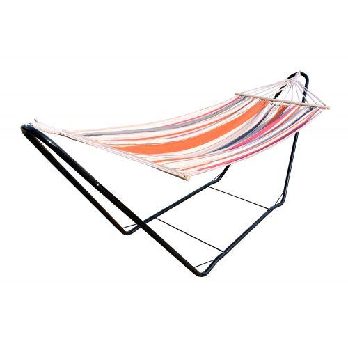 CHILLOUNGE® Sunrise - Hamaca con barra individual y soporte de acero lacado en polvo
