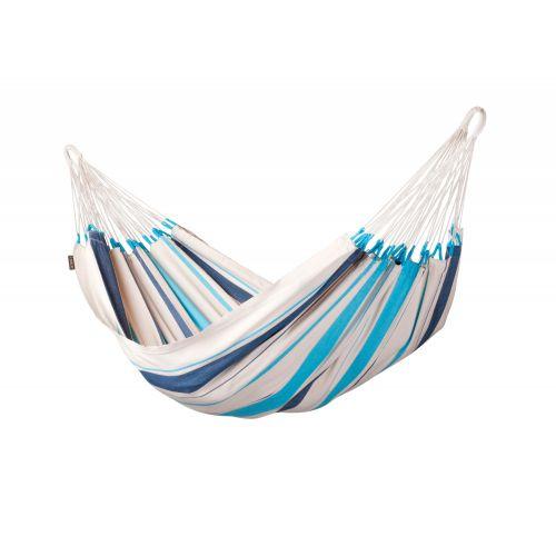 Caribeña Aqua Blue - Hamaca clásica individual de algodón