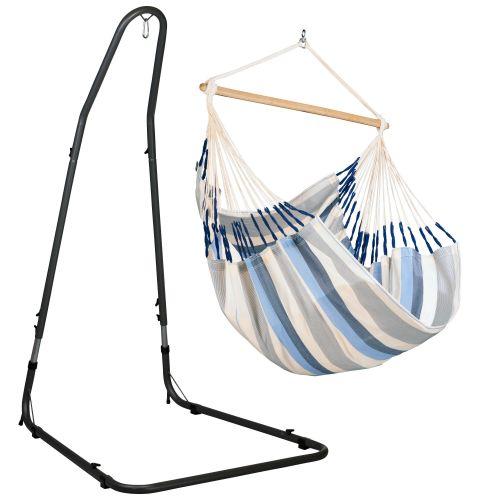 Domingo Sea Salt - Silla colgante comfort y soporte de acero lacado en polvo