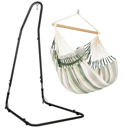 Domingo Cedar - Silla colgante comfort y soporte de acero lacado en polvo