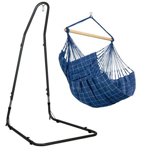 Domingo Marine - Silla colgante comfort y soporte de acero lacado en polvo