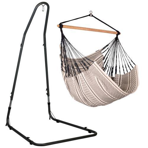 Habana Zebra - Silla colgante comfort y soporte de acero lacado en polvo