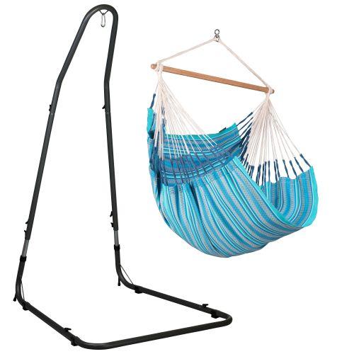 Habana Azure - Silla colgante comfort y soporte de acero lacado en polvo