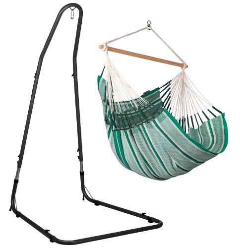 Habana Agave - Silla colgante comfort y soporte de acero lacado en polvo